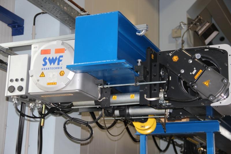 Канатный подъёмный механизм SWF, исполнение Ех или ВБИ