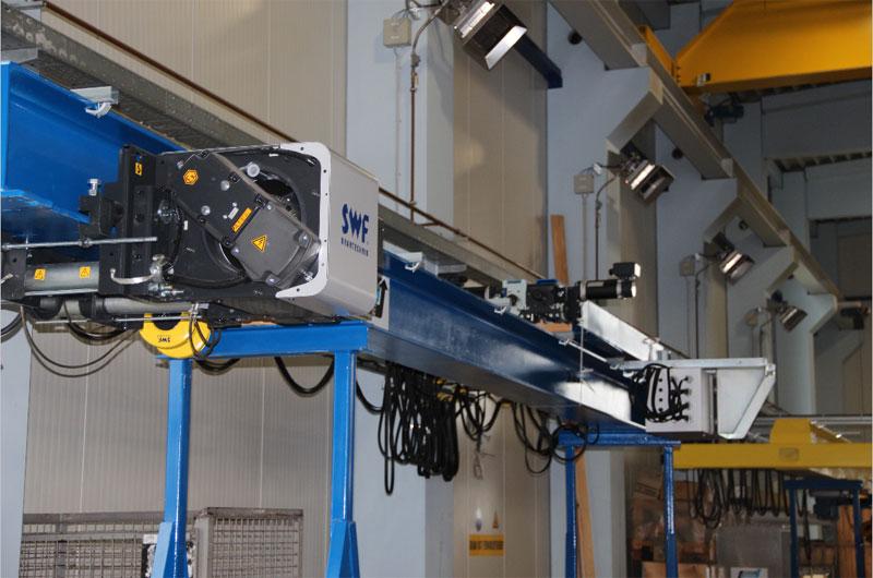 Подвесной кран на базе комплектующих SWF, исполнение ВБИ или Ех